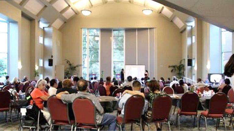 Dismas and GrissyG speak at Legends of Belize Book Release, CSUN, California.